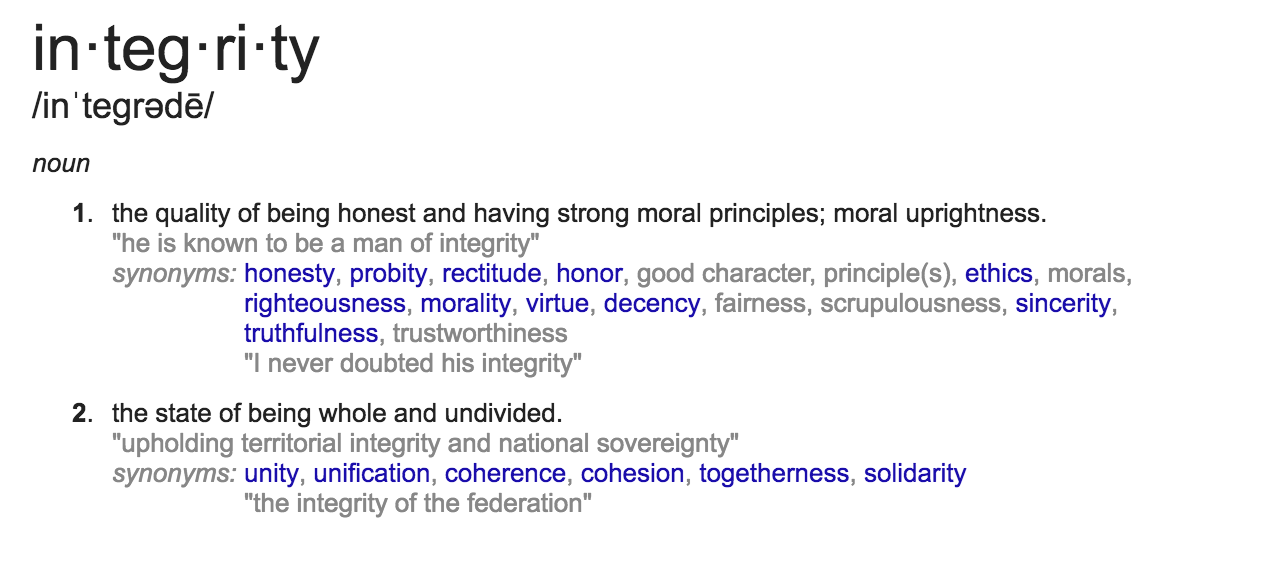Integrity, Defined