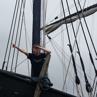 DC at the Helm of the Pinta