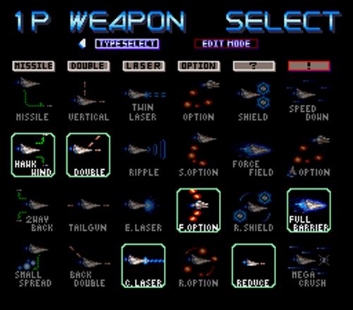 Gradius Options