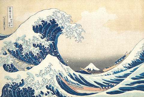 The Great Wave, a Japanese Woodblock Print